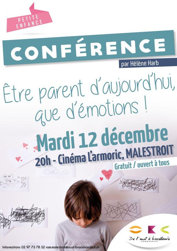 """Conférence """"Etre parent d'aujourd'hui, que d'émotions !"""""""