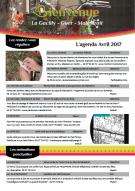 Agenda touristique d'avril